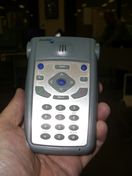 ICON PDA is a device that allows individulas with visual issues to listen to the web, podcasts, etc.